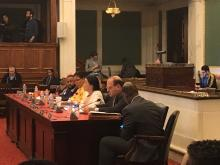 City Council Members at hearing.