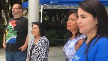 Dolores Huerta y líderes latinos contra la política del odio de Trump