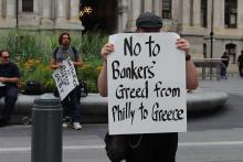 Una decena de personas se concentran en Filadelfia en solidaridad con Grecia