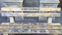 Bench outside a Cape Town office of South Africa's Supreme Court reminding of the past that most South Africans do not want to pollute their present and future. LBW Photo