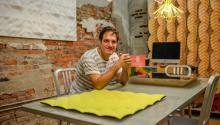 Designer JaimeSalm, originally fromMedellin, Colombia, at the MIO Culture Studio in Chinatown. Photo: AndresAlbaladejo.