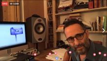 """Jorge Drexler en su lanzamiento en streaming the su nuevo tema """"Telefonía""""."""