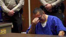 Image of Luis Lorenzo Vargas, crying during the trial held in a court of Los Angeles, United States, on November 23, 2015. EFE / Archive