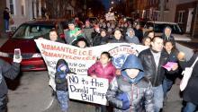 Una foto del colectivo Juntos durante una protesta en Febrero
