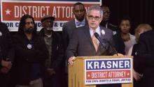 Larry Krasner, Democrat candidate for Philadelphia District Attorney. Photo: Edwin López Moya / AL DÍA News.