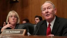 Los Senadores Patty Murray y Lamar Alexander. Chip Somodevilla/Getty Images