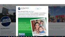 La Unión Americana de Libertades Civiles (ACLU) solicitó el lunes al Gobierno estadounidense la liberación inmediata de una inmigrante embarazada que se encuentra recluida en un centro de detención en San Diego, en California, desde principios de agosto.