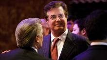 Stock photo of May 3, 2016 showing former US President Donald Trump's campaign manager, Paul Manafort, as he attends a campaign event in New York (United States). EFE / Justin Lane