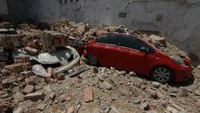 General view of damages on Tuesday, September 19, 2017, following a magnitude 7.1 earthquake on the Richter scale that hit the Mexican capital today and caused panic scenes just as the 32-year-old earthquake struck thousands of deaths in Mexico City (Mexico). EFE / Mario Guzmán