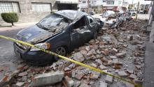 View of the damages in Puebla, Mexico, today, Tuesday, September 19, 2017, after a magnitude 7.1 earthquake that shook the Mexican capital strongly and caused panic scenes just as 32 years of powerful earthquake that caused thousands of deaths. EFE / Francisco Guasco