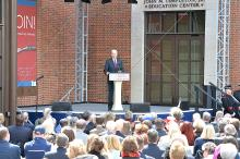 Former Vice-President Joe Biden speaks during the Grand Opening of the Museum of the American Revolution. Photo: Peter Fitzpatrick/AL DIA News