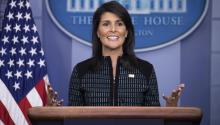 With her tough speeches and independent image, the US ambassador to the UN, Nikki Haley, has become one of the stars of the Trump Administration and one of the country's fashionable political figures. EFE / Shawn Thew