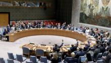 El Consejo de Seguridad de las Naciones Unidas votó el pasadolunes 11 de septiembre de 2017, la resolución acerca de las sanciones contraCoreadelNorteen su sede en Nueva York (EE.UU.). El organismo votó unánimemente pasar a resoluciones diseñadas para disminuir las ambiciones nucleares deCoreadelNorte. EFE/ANDREW GOMBERT