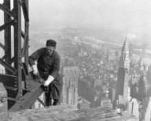 """""""Old timer structural worker"""" by Lewis Hine - This media is available in the holdings of the National Archives and Records Administration, cataloged under the ARC Identifier (National Archives Identifier). Licensed under Public Domain via Wikimedia Commons."""