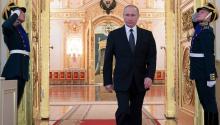El presidente ruso, Vladímir Putin, pronuncia su discurso durante una reunión con oficiales en el Kremlin de Moscú,Rusia, hoy, 23 de marzo de 2017. EFE/MICHAEL KLIMENTYEV / SPUTNIK / KREMLIN