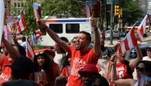 Protests in Philadelphia continue.
