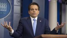 Stock photo dated July 21, 2017 showing then-director of White House communication, Anthony Scaramucci, during a press conference at the White House in Washington D.C., United States. EFE/MICHAEL REYNOLDS