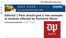Pantallazo de la página web de The Daily Pennsylvanian.