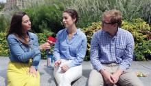 """Charlotte y Steve, dos residentes de Filadelfia, dijeron que el Mes de la Hispanidad es un momento """"para honrar y recordar la importante historia de la herencia hispana y lo que ella significa en la actualidad"""". Foto: Samantha Laub/AL DÍA News"""