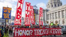 Standing Rock solidarity march in San Francisco, November 2016. Photo: Wikimedia/Commons