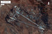 Foto cedida por el Pentágono de la base aéreasiria de Shayrat.
