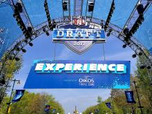 The NFL Experience and the NFL Draft has returned in Philadelphia since the first draft took place in 1936.  Photo: Peter Fitzpatrick/AL DIA News
