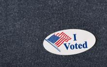 An image of a vote sticker.