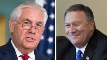 The White House plans to dismiss Tillerson (r), and be replaced by Pompeo (l), as published on November 30, 2017, local media. The New York Times, which quotes senior government officials, said Republican Senator Tom Cotton, a figure close to US President Donald Trump, would replace Pompeo in the CIA. EFE / Michael Reynolds / Olivier Douli
