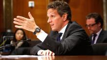 """Como muchos otros, Geithner--actor principal en la contención de la crisis--duda que Estados Unidos enfrente """"una crisis financiera importante en un futuro cercano."""" Para justificar esa opinión, ofrece estadísticas y sentido común. Foto: today.com"""