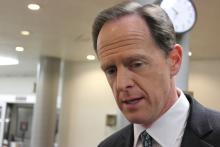 Toomey and Casey speak on Comey dismissal. Photo Courtesy Creative Commons: Pat Toomey, R-Penn. | by Medill DC