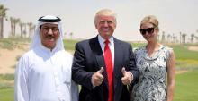Trump habría lanzado más de ochocompañíasen los Emiratos Árabes durante su campaña presidencial. Fuente:http://www.joemygod.com/