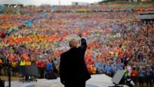El Presidente Trump frente a 40.000 niños scouts. Fuente: The Washington Post