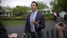 Stock photo taken April 17, 2017 showing Donald Trump Jr., son of US President Donald Trump, in Washington, United States. EFE/Shawn Thew