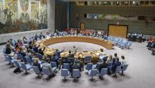 UN creates second mission to verify peace process in Colombia. Photo provided by United Nations showing a general view of the UN Security Council during a meeting held at UN headquarters in New York, United States on July 10, 2017. EFE/UN Photo/Manuel Elias