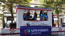 The Univision parade float in Boston's 2016 Dominican Parade. Photo: Commons/Wikimedia