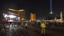 "Overview of one of the stages of the ""Route 91. Harvest"" music festival in Las Vegas, USA, on September 30, 2017. Automatic rifle blasts at the festival sparked panic in the early hours of October 2 2017. EFE / Bill Hughes / Las Vegas News Bureau"