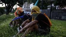 """Opposition protesters participated in the """"national trancazo against the dictatorship"""" onTuesday, July 4, 2017, in Caracas (Venezuela).EFE/CRISTIAN HERNÁNDEZ"""