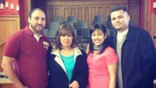 (izq. a der.) Arturo Hernández y su esposa Ana junto a Angela Navarro y su esposo Manrique. Foto: NSM