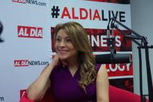 Lili Gil Valletta visited AL DÍA on May 29,2019. Photo: Emily Neil/AL DÍA News.