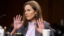 Judge Amy Coney Barrett commented on her own past writings, decisions and general legal philosophy, but not much else during her hearing before the Senate. Photo: Getty Images.