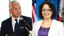 Javier Palomárez (R) and Cristina García (L) are two of the Latin American characters accused of sexual harassment in the United States.