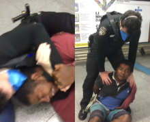 A man of African descent was assaulted in the Sao Paulo subway.