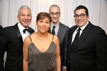 Javier Palomarez, President and CEO of the U.S. Hispanic Chamber of Commerce; Chef Cristina Martinez and husband/business partner Benjamin Miller of South Philly Barbacoa; and Chef Jose Garces, Founder ofGarces Group and Garces Foundation (Peter Fitzpatrick)