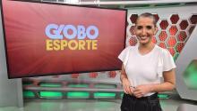 Alice Bastos Neves presenta Globo Esporte. Photo:Eduardo Rachelle.