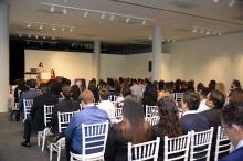 Joan Schwartz, Chief Legal Officer of Pershing, a BNY Mellon Company, delivered the keynote address at Women of ALPFA Symposium. (Peter Fitzpatrick)