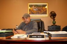 State Representative Angel Cruz in his Philadelphia office. Photo: David Maas / AL DÍA News.