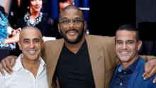 From L to R: Ozzie Areu, Tyler Perry and Will Areu. AREU BROS.