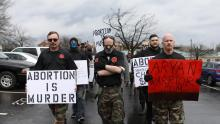 March against abortion in Arkansas. March 2019 image. /Jim Urquhart, Reuters.