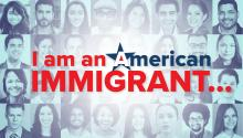 I am an American Immigrant logo.