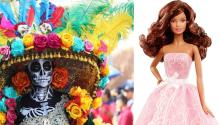 Día de los Muertos en México (izq) y Barbie latina lanzada por Mattel en 2015.Photo: Getty Images.